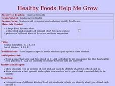 Healthy Foods Help Me Grow Lesson Plan