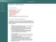 Tuberculosis and Society Lesson Plan