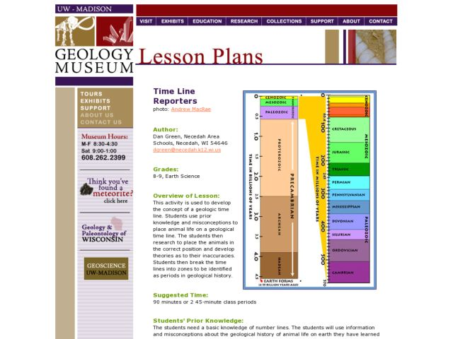 Time Line Reporters Lesson Plan