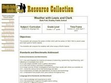 Weather with Lewis and Clark Lesson Plan