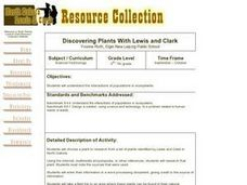 Discovering Plants With Lewis and Clark Lesson Plan