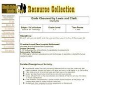Birds Observed by Lewis and Clark Lesson Plan