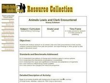 Animals Lewis and Clark Encountered Lesson Plan
