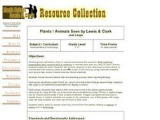 Plants / Animals Seen by Lewis & Clark Lesson Plan