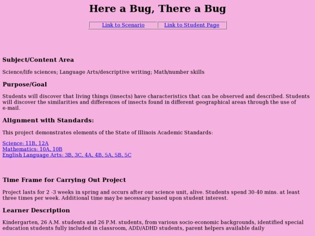 Here a Bug, There a Bug Lesson Plan