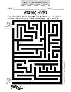 Amazing Primes Worksheet
