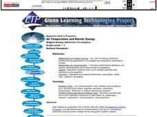 Air Temperature and Kinetic Energy Lesson Plan