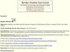 Border History Lesson Plan