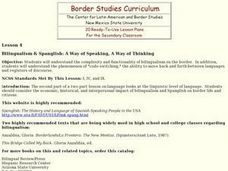 Bilinguilism and Spanglish: A Way of Speaking, a Way of Thinking Lesson Plan