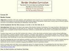 Border Forum Lesson Plan