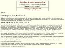 Border Legends, Myth, & Folklore Lesson Plan