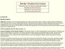Border Project Lesson Plan