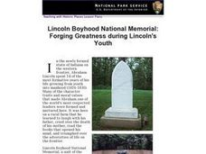 Lincoln Boyhood National Memorial: Forging Greatness during Lincoln's Youth Lesson Plan