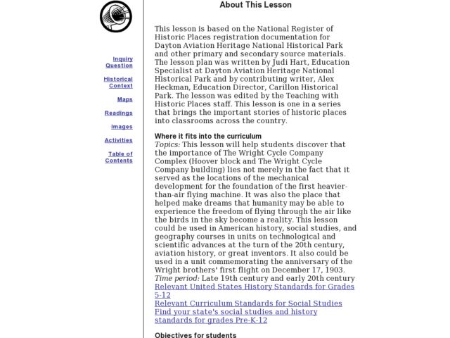 The Wright Brothers Lesson Plan