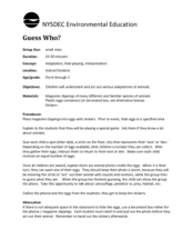 Guess Who ? Lesson Plan