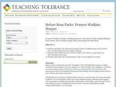 Before Rosa Parks: Upper Grades Activity: Frances Watkins Harper Lesson Plan