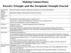 Making Connections: Pascal's Triangle and the Sierpinski Triangle Fractal Lesson Plan