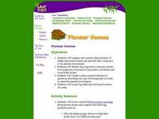 Pioneer Homes Lesson Plan