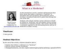 What is a Medicine? Lesson Plan
