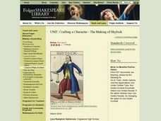 Crafting a Character - The Making of Shylock Lesson Plan