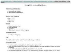 Dividing Whole Numbers: 2-Digit Divisors Lesson Plan