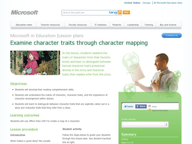 Examining Character Traits through Character Mapping Lesson Plan