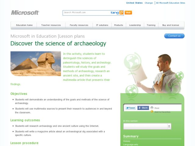 Archeological Finds Lesson Plan