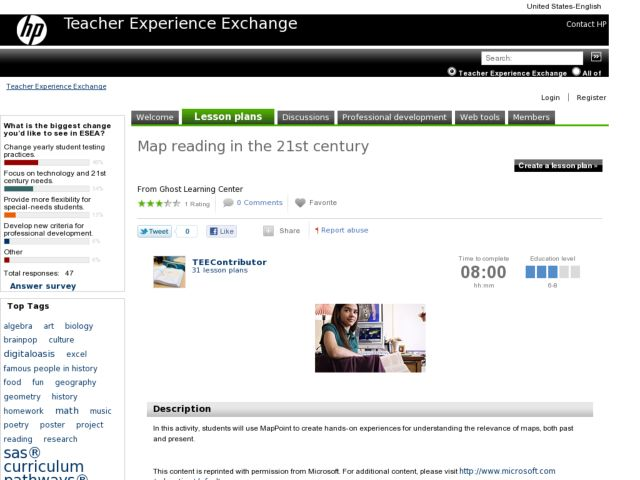 Map Reading in the 21st Century Lesson Plan