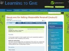 LESSON 5:  Hands are for Helping (Responsible Personal Conduct) Lesson Plan