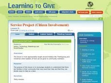 LESSON 9:  Service Project (Citizen Involvement) Lesson Plan