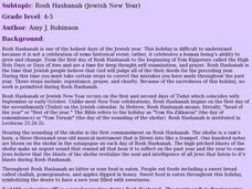 Rosh Hashanah (Jewish New Year) Lesson Plan