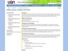 HTML project--A Walk in the Park Lesson Plan
