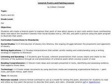 Limerick Poetry and Painting Lesson Lesson Plan