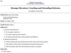 Strange Elevators: Creating and Extending Patterns Lesson Plan