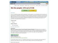 We the People: 270 out of 538 Lesson Plan