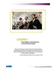 The Rights of Immigrants in the United States Lesson Plan
