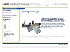 Who is in Charge in Ottawa ? Lesson Plan
