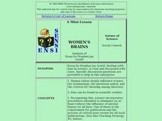 Women's Brains Lesson Plan