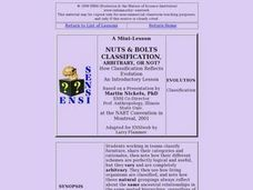 Nuts & Bolts: is Classification, Arbitrary, Or Not? Lesson Plan
