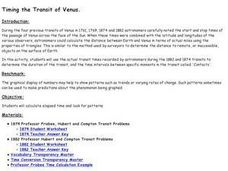 Timing the Transit of Venus Lesson Plan