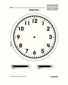 Analog Clock Worksheet