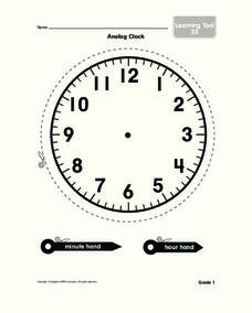 Analog Clock Lesson Plan