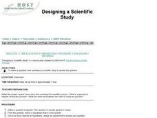 Designing a Scientific Study Lesson Plan
