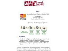 Lesson 3: Marketing of Pop Music Lesson Plan