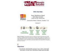 VH1 Fan Club Dave Matthews Band Lesson Plan