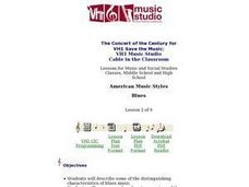 American Music Styles: Blues - Lesson 2 Lesson Plan