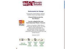 Instruments for Change Lesson Plan