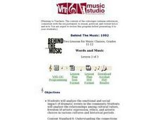 Words and Music - Lesson 2 Lesson Plan