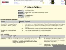 Create-a-Culture Lesson Plan