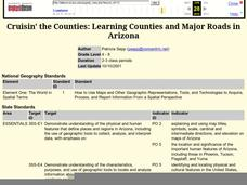 Cruisin' the Counties: Learning Counties and Major Roads in Arizona Lesson Plan